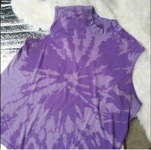 Vintage Bleach Dyed Purple Tank Top XXL